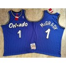 Men's Orlando Magic #1 Tracy McGrady Blue 2003 Throwback Authentic Jersey