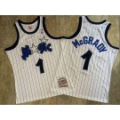 Men's Orlando Magic #1 Tracy McGrady White 2003 Throwback Authentic Jersey