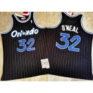 Men's Orlando Magic #32 Shaquille O'Neal Black 1994 Throwback Authentic Jersey