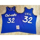 Men's Orlando Magic #32 Shaquille O'Neal Blue 1994 Throwback Authentic Jersey