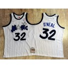 Men's Orlando Magic #32 Shaquille O'Neal White 1993 Throwback Authentic Jersey