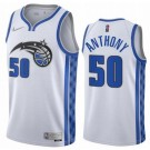 Men's Orlando Magic #50 Cole Anthony White 2021 Earned Icon Hot Press Jersey