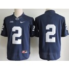 Men's Penn State Nittany Lions #2 Marcus Allen Navy College Football Jersey