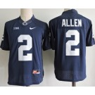 Men's Penn State Nittany Lions #2 Marcus Allen Navy Player Name College Football Jersey