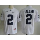 Men's Penn State Nittany Lions #2 Marcus Allen White Player Name College Football Jersey