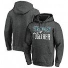 Men's Philadelphia Eagles Heather Charcoal Stronger Together Printed Pullover Hoodie 0702