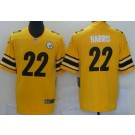 Men's Pittsburgh Steelers #22 Najee Harris Limited Yellow Inverted Vapor Untouchable Jersey