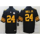 Men's Pittsburgh Steelers #24 Benny Snell Jr Limited Black Rush Color Jersey