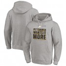 Men's Pittsburgh Steelers Gray 2020 NFL Playoffs Bound Shift Pullover Hoodie