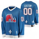 Men's Quebec Nordiques Customized Blue Throwback Jersey