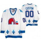Men's Quebec Nordiques Customized White Throwback Jersey