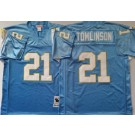 Men's San Diego Chargers #21 LaDainian Tomlinson Light Blue Throwback Jersey