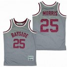 Men's Saved By The Bell Bayside Tigers #25 Zack Morris Gray Basketball Jersey