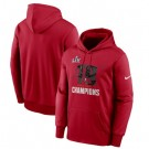 Men's Tampa Bay Buccaneers Red 2021 Super Bowl LV Champions Pullover Hoodie 210301