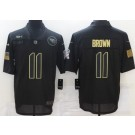 Men's Tennessee Titans #11 AJ Brown Limited Black 2020 Salute To Service Jersey