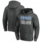 Men's Tennessee Titans Heather Charcoal Stronger Together Printed Pullover Hoodie 0781