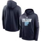 Men's Tennessee Titans Navy Fan Gear Local Club Pullover Hoodie