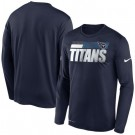 Men's Tennessee Titans Sideline Impact Legend Performance Long Sleeves T Shirt 609