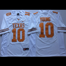 Men's Texas Longhorns #10 Vince Young White 2018 College Football Jersey