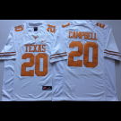 Men's Texas Longhorns #20 Earl Campbell White 2018 College Football Jersey