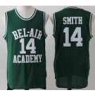 Men's The Fresh Prince Bel Air Academy #14 Will Smith Green Basketball Jersey