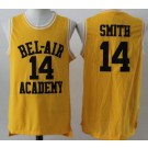 Men's The Fresh Prince Bel Air Academy #14 Will Smith Yellow Basketball Jersey