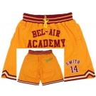 Men's The Fresh Prince Bel Air Academy #14 Will Smith Yellow Basketball Shorts