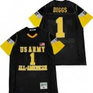 Men's US Army Black Knights #1 Stefon Diggs Black All American Football Jersey