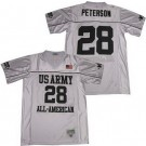 Men's US Army Black Knights #28 Adrian Peterson White All American Football Jersey