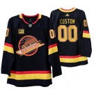 Men's Vancouver Canucks Customized Black 50th Anniversary Authentic Jersey
