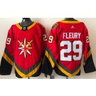 Men's Vegas Golden Knights #29 Marc Andre Fleury Red 2021 Reverse Retro Authentic Jersey