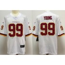 Men's Washington Football Team #99 Chase Young Limited White Vapor Untouchable Jersey