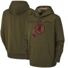 Men's Washington Redskins Olive Salute To Service Printed Pullover Hoodie
