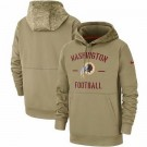Men's Washington Redskins Tan 2019 Salute to Service Sideline Therma Printed Pullover Hoodie