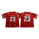 Men's Wisconsin Badgers #23 Jonathan Taylor Red College Football Jersey