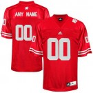 Men's Wisconsin Badgers Customized Red College Football Adidas Jersey