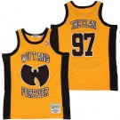 Men's Wu Tang Forever #97 The Clan Yellow Basketball Jersey