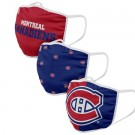 Montreal Canadiens FOCO Cloth Face Covering Civil Masks 3 Pics