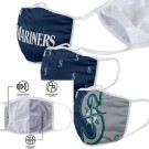 Seattle Mariners FOCO Cloth Face Covering Civil Masks 3 Pics