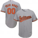 Toddler Baltimore Orioles Customized Gray Cool Base Jersey