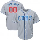 Toddler Chicago Cubs Customized Gray 2 Cool Base Jersey