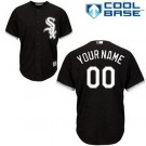 Toddler Chicago White Sox Customized Black Cool Base Jersey