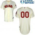 Toddler Cleveland Indians Customized Gream Cool Base Jersey