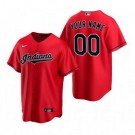 Toddler Cleveland Indians Customized Red Alternate 2020 Cool Base Jersey