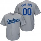 Toddler Los Angeles Dodgers Customized Gray Cool Base Jersey