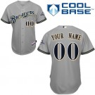 Toddler Milwaukee Brewers Customized Gray Cool Base Jersey