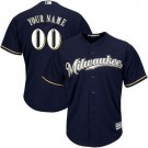 Toddler Milwaukee Brewers Customized Navy Blue 2 Cool Base Jersey