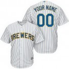 Toddler Milwaukee Brewers Customized White Stripes Cool Base Jersey