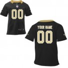 Toddler New Orleans Saints Customized Game Black Jersey