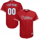 Toddler Philadelphia Phillies Customized Red Cool Base Jersey